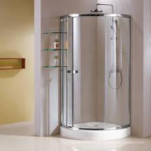 Cabine simple de douche de cadre en aluminium de cadre avec l'étagère en verre (HR269A)