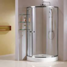 Aluminum Frame Quadrant Simple Shower Enclosure with Glass Shelf (HR269A)