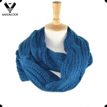 Acrylic Jacquard Cable Pattern Neck Scarf