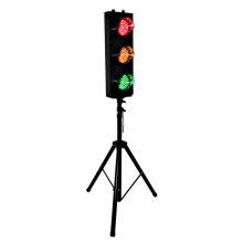 Mini luz de señal de tráfico RYG con carcasa de acero de 125 mm