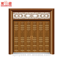 Hoher Rankinf erhabener Entwurf Kundengebundener Stahleingang Mutileaf Tür-großer Reichtum Sicherheit dekorativ
