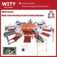 WPKY série Multi-color máquina automática rotativa tela de impressão