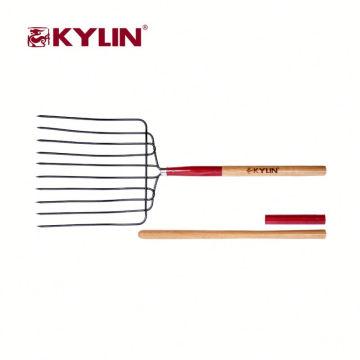 Forquilha profissional do aço das ferramentas da grama de feno do forjamento do jardim do fornecedor da fábrica