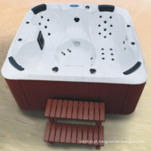 Banheira de banho de acrílico ao ar livre branca gratuita (JL987)
