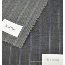 Hot sale wool polyester blend stripe wax print fabric for business suit jacket garment