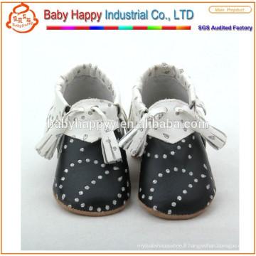 Nouveaux garçons de luxe en cuir souple garçons garçons chaussures 0-6 6-12 12-18 18-24 M