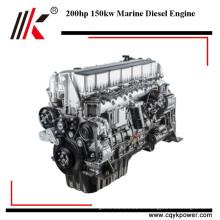 Buen rendimiento motor diesel del barco del motor diesel de 6 cilindros 150kw 200hp