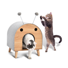 Eco Friendly  Feisty Pet Toy Interactive House Lift Design Spring Toy Ball Design More Funny