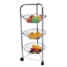 Rack de armazenamento de frutas e vegetais multicamadas de aço inoxidável
