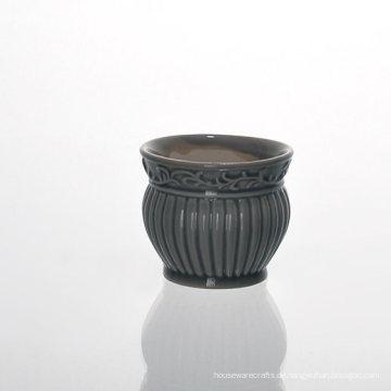 Niedrige MOQ Vintage glasierte Lattern Keramik-Halter für duftendes Wachs