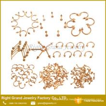 Spike circular ferradura Piercing barbell jóia piercing do corpo