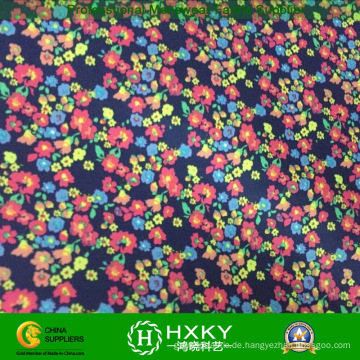 Kleines Blumendruck-Gewebe-junge Dame Short Dress Fabric