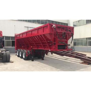 Live Bottom Trailer With Conveyor For-Gravel Sand Grain