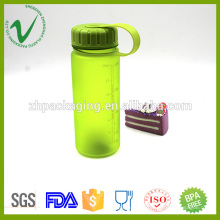 Transparente PCTG cilindro vazio garrafa de plástico de 400 ml com boca larga