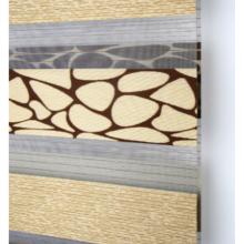 Cortinas de gasa con cortinas enrollables de cebra