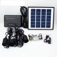 3W / 5W / 10W Sistema Solar Inicio Batería Li 3 * Bombillas LED