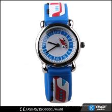 Relógio de bolso para crianças com alça de silicone de trem