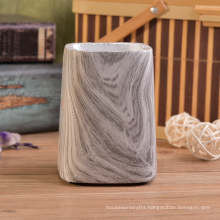 Trapezoid Shaped Water Transfer Screen Marble Concrete Candle Holders