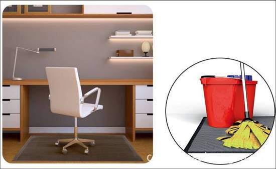 Home office with PVC floor MATS2