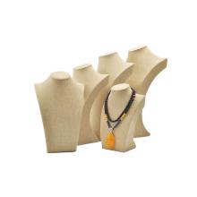 Beige Linen Jewelry Display Bust Wholesale (N-BL - K1-K5)