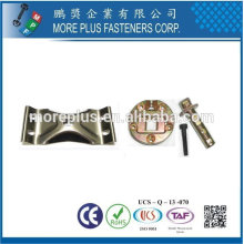 Taiwan Stainless steel 18-8 Copper Brass Galvanized Fittings Metal Fittings for Chair Legs Table Swivel Hardware Chair Fittings
