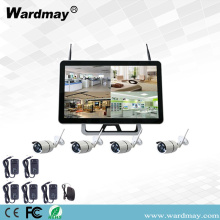 "4CH 1.3 / 2.0MP Wifi NVR Kit dengan 15 ""Monitor"