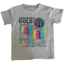 Camiseta Sunshine Boy para niños con estampado de hojas Sqt-608