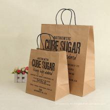Bolsa de papel Kraft personalizada con logo impreso