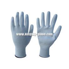 13G Nylon / Polyester Liner Weiß PU Arbeitshandschuh (5537)