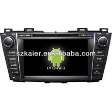 Système central de voiture dual core Android pour Mazda 5 avec GPS / Bluetooth / TV / 3G / WIFI