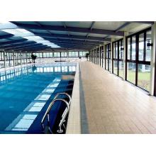 Fertigen Sie leichte Stahlraum-Rahmen-Swimmingpool-Abdeckung besonders an