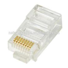 Модульная вилка кабеля коммутационного шнура Cat5e