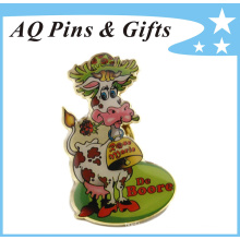 Gold Brass Offset Print Lapel Pin in Great Details (badge-170)