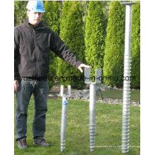 Energía solar DIP caliente Anclaje de tierra galvanizado / Perno de tornillo / Pila de tierra / Tornillo de masa