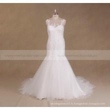 2017 Robe de mariée en dentelle sans bordures en dentelle