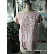 T-shirt à la mode rose respirant confortable
