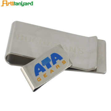 Customized Wallet With Metal Money Clip