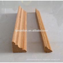 moldura de la esquina de la teca / marcos decorativos de la pared / esquinas decorativas de madera