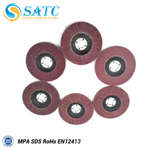 Fibra de vidro econômica e Confiável com base em disco flap abrasivo de alumínio com ótimo preço