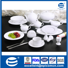 table super white round serving accessories plain white porcelain hotel ware