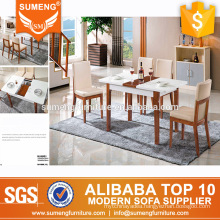 modern luxury marble expandable retractable wood base dining table