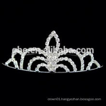 New fashion wholesale rhinestone round crowns for pageants