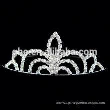 Novas coroas redondas de rhinestone grossistas de moda para concursos