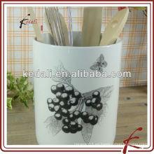 Fábrica de China Venta al por mayor de cerámica de porcelana titular de utensilios de cocina