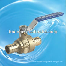 lead free Pex brass ball valves with drain pex*pex