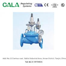 Vente de produits métalliques professionnels de haute qualité GALA 1320D Valve de réduction de pression double étage pour gaz