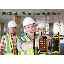 IP68 estándar Walkie Talkie teléfono celular indestructible