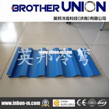 Máquina formadora de rollos de láminas de aluminio para techos