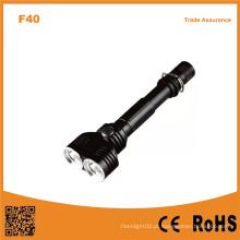 10W Xm-L2 T6 lâmpada de duas cabeças multi-função alumínio lanterna