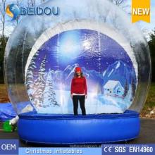 Fábrica de venta al por mayor Durable Giant Foto Humanos inflables nieve Snow Globe